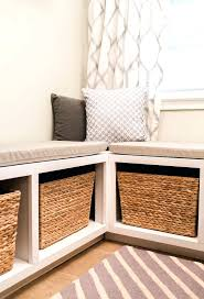 built in storage bench plans benches kitchen table storage bench