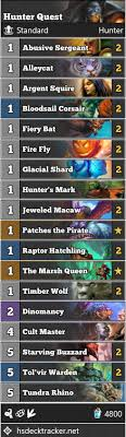 hunter quest viable standard format hearthstone game modes