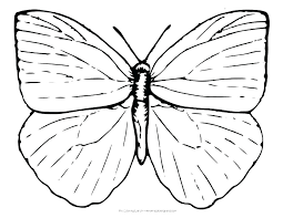 Butterfly Coloring Pages Printable Pic Of Simple In Related Post Monarch Free
