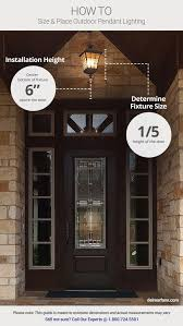 Selecting Fixture Size Of Exterior Hanging Porch Lights Helps With Security Around Your Home