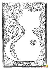 Cat Adult Coloring Page Beautiful Design Perfect For Mindful And We Have A