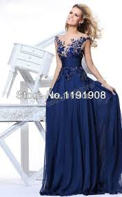 most beautiful evening gowns royal blue chiffon evening dress 2016