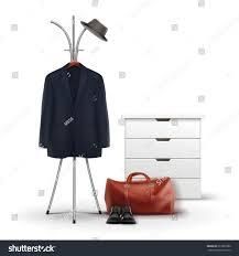 Decorative Metal Garment Rack by Vector Metal Clothes Rack White Wardrobe Stock Vector 613839992