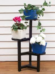 Outdoor Patio Plant Stands by Plant Stands Indoor White Finish 2 Flower Pot Shelves Wooden Plant