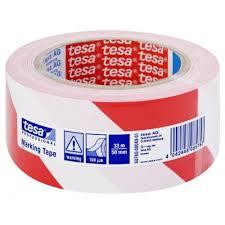 fr tesa adhésif de marquage au sol blanc de tesa bodenmarkierung rot weiß