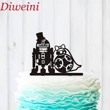 hochzeitstorte topper wars kuchen topper r2d2 bb8 kuchen topper acryl benutzerdefinierte kuchen topper hochzeit silhouette dekoration