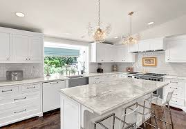 white kitchen cabinets marble countertops contemporary dma homes