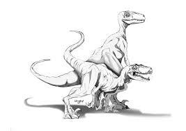 Jurassic World Velociraptor Coloring Pages 1
