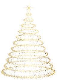 Gold Deco Christmas Tree Transparent Clip Art Image