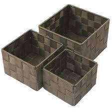 aufbewahrungsbox 3er set quadratisch geflochten korb box badezimmer kiste regal
