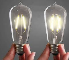 new arrival dimmable st64 filament edison led bulb 2w 4w 6w e27 85