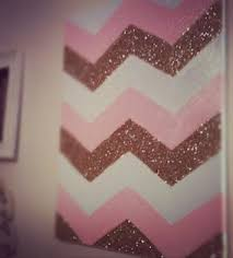 Lol Chevron Pink And Glitter Painting