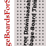 Free Full Size Printable Cribbage Board Template