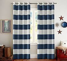 Sound Reducing Curtains Amazon amazon com blackout thermal insulated curtains striped for living