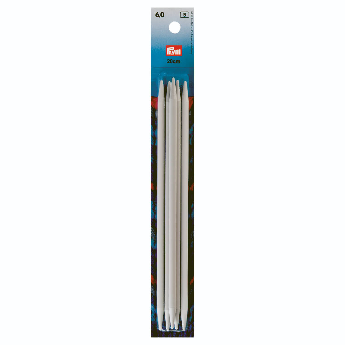 Prym Double Pointed Knitting Needles - Grey, 6mm x 20cm