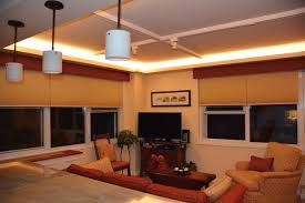 led ceiling cove lighting contemporary living room st louis