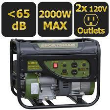 Generac Portable Generator Shed by Sportsman 2 000 Watt Gasoline Powered Portable Generator 801309