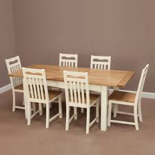100 Oak Table 6 Chairs Cotswold Cream Painted Solid Extending Dining Flickr