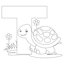 Printable Animal Alphabet Worksheets Letter T Is For Turtle