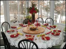 Beautifull Summer Party Decorating Ideas With Round Dining Table Easy Christmas