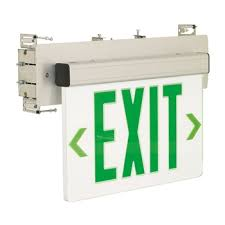 noralighting wall mount recessed edge lit exit sign ac only