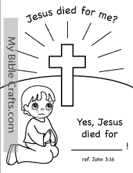 Personalized Cross Coloring Page Boy This Comes With A Girl On It As Well
