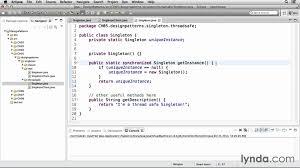 Design pattern tutorial Improving the singleton pattern