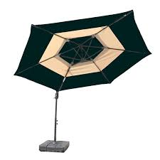 Menards Patio Umbrella Base by Amazon Com Atleisure Offset 2 Tone Umbrella With Base 10 Feet