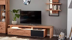 interliving wohnzimmer serie 2005 lowboard mit tv brücke asteiche anthrazitfarbenes glas eine klappe eine schublade