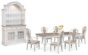 Value City Furniture Kitchen Table Chairs by The Marcelle Dining Collection Vintage White Value City Furniture