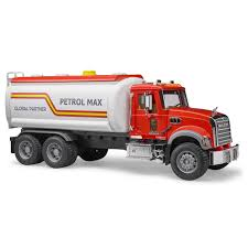 100 Bruder Trucks Mack Granite Tanker Truck Red Vehicle Toy By 02827