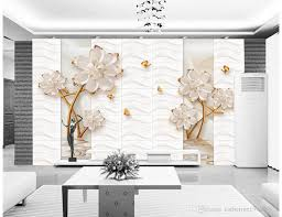 100 Decorated Wall 3D Embossed Flowers With TV Mural 3d Paper 3d
