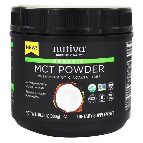 Nutiva - Organic MCT Powder with Prebiotic Acacia Fiber (30 Servings) - Keto