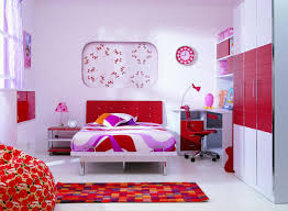 Colorful Area Rug Idea Also Modern Children Bedroom Furniture With Red And White Paint Plus Quirky