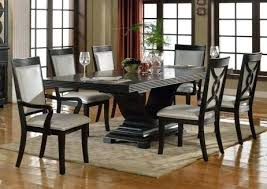 Espresso Dining Room Chairs Table Lovely Amazing Black Round And Daisy Glass Dark