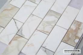 italian calacatta gold marble wall tiles beveled subway tile