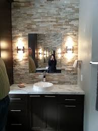 Stone Accent Wall In Bathroom