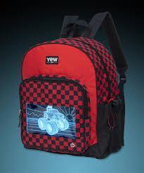 100 Monster Truck Backpack Igloo Red Black Checker LightUp Zulily