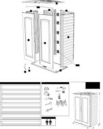 Rubbermaid Tool Shed Instructions by Page 2 Of Rubbermaid Outdoor Storage 5l10 User Guide