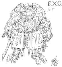 Lineart EXO Suit