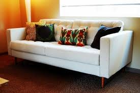 Karlstad Sofa Legs Etsy by Before U0026 After Adding Style To An Ikea Karlstad Sofa Mid