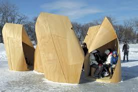 100 Patkau Architects Winnipeg Skating Shelters By