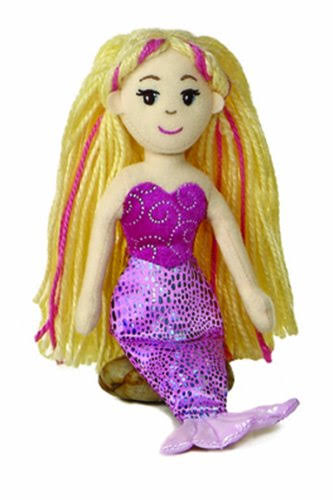 Aurora Merinna Blonde Mermaid Stuffed Animal Plush Toy - 10""