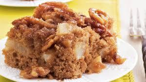 Gooey Pear Cake Recipe BettyCrocker
