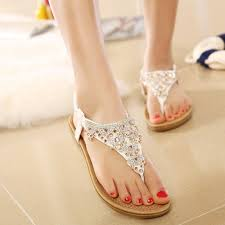 The Lowest Price Ladies Fashion Fancy Flat Sandals