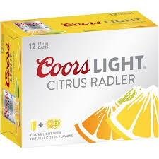 Coors Light Citrus Radler 12 pack 12 fl oz