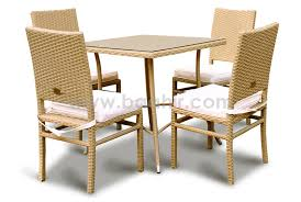 ESR7184 4 Chairs With Polyester Fabric And Table