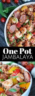 jambalaya crock pot recipe one pot meals jambalaya with rice this lil piglet