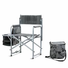 Folding Compact Director's Chair Aluminum Cup Holder Side ...