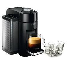 Nespresso VertuoLine Evoluo Deluxe Piano Black Coffee And Espresso Maker With Free Set Of 6